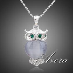 Náhrdelník Crystal OWL AZORA-Kryštálová