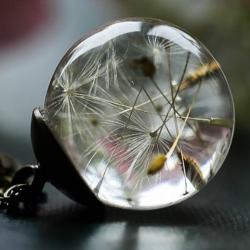 Náhrdelník Dandelion-Zlatá/Hnedá