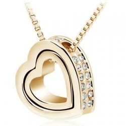 Náhrdelník Double Heart - Zlatý 1