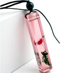 Náhrdelník Flower Resin-Ružová