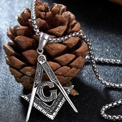 Náhrdelník Freemasonry-Strieborná