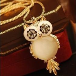 Náhrdelník Gold Owl-Zlatá