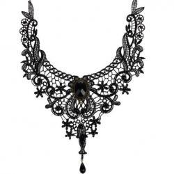 Náhrdelník Gothic-Čierna