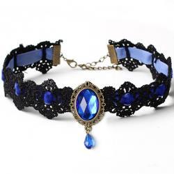 Náhrdelník Lace-Modrá