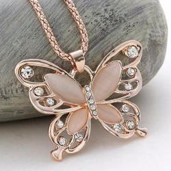 Náhrdelník Motýlik-Zlatá