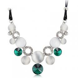 Náhrdelník Opal Crystal-Zelená