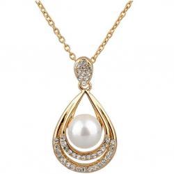 Náhrdelník Pearl Drop-Zlatá