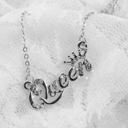 Náhrdelník Queen-Strieborná