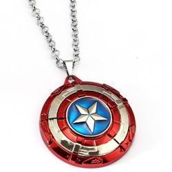 Náhrdelník Štít Captain America-Červená
