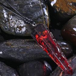Náhrdelník Stone Resin-Červená