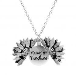 Náhrdelník Sunflower-Strieborná