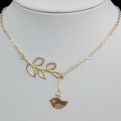 Náhrdelník Twig-Zlatá