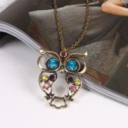 Náhrdelník Vintage Owl-Multi