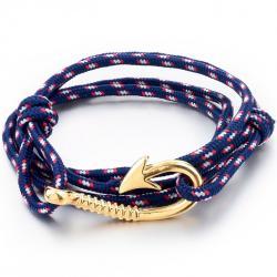 Náramok Anchor - Modrá/Zlatá
