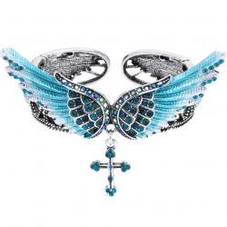 Náramok Angel Cross-Modrá