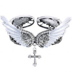 Náramok Angel Cross-Strieborná