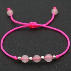 Náramok Balls-Ružová/Strieborná