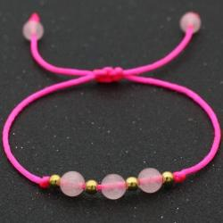 Náramok Balls-Ružová/Zlatá