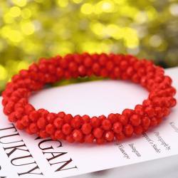 Náramok Beads-Červená