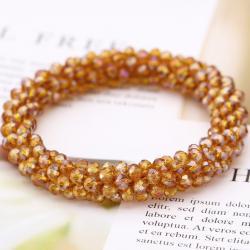 Náramok Beads-Hnedá