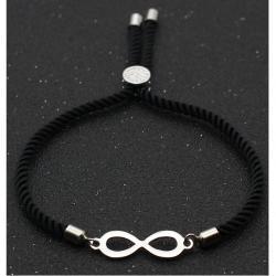 Náramok Black Infinity-Čierna