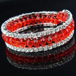 Náramok Charm - Červená