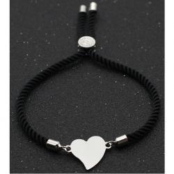 Náramok Cute Heart-Čierna