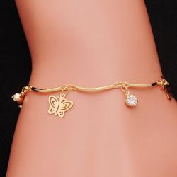 Náramok Gold Butterfly-Zlatá