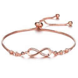Náramok Mellow Crystal-Ružová/Zlatá