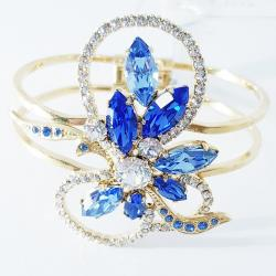 Náramok Scarlett SWAROVSKI-Zlatá/Modrá