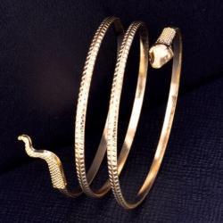 Náramok Snake-Zlatá