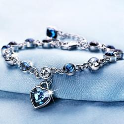 Náramok Sweet Heart-Tm.Modrá
