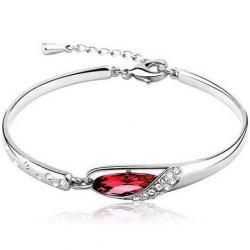 Náramok bridal crystal - Červená