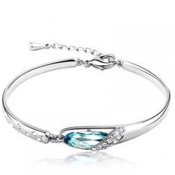 Náramok bridal crystal - Modrá