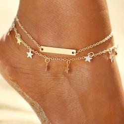 Náramok na nohu Hviezdička-Zlatá