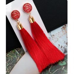 Náušnice Cheryl-Červená