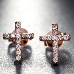 Náušnice Cross-Zlatá
