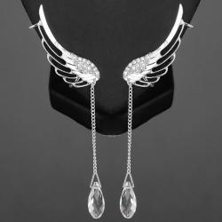 Náušnice Crystal Angel - Strieborná
