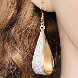 Náušnice Crystal Tear - Zlatá