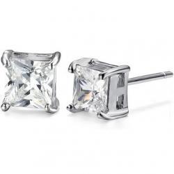 Náušnice Cubic Crown - Strieborná