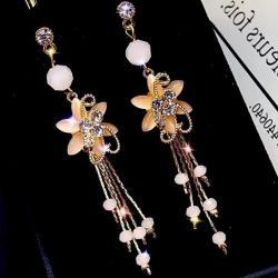 Náušnice Elegant Flower-Kryštálová