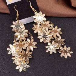 Náušnice Flowers-Zlatá