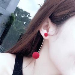 Náušnice Globule-Červená