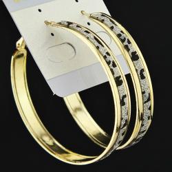 Náušnice Leopard Charm - Zlatá