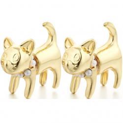 Náušnice Puppy-Zlatá