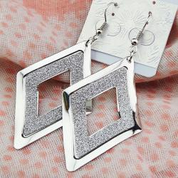 Náušnice Rhombus Charm - Strieborná