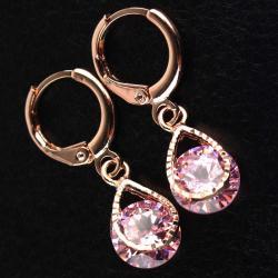 Náušnice Stone - Ružová