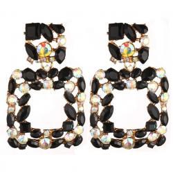 Náušnice Stones-Čierna