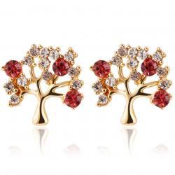 Náušnice Tree-Zlatá/Ružová