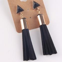 Náušnice Vintage Tassel-Čierna